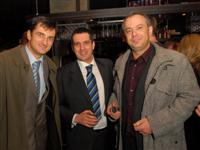 Zeljko Kardum, Roberto Motusic (CEO Zagreb Stock Exchange) & Zoran Sprajc (News Editor, Croatian National TV HRT)